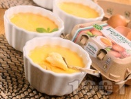 Рецепта Крем карамел с лимонов сок за десерт (ВИДЕО) - лесна и вкусна домашна рецепта с яйца Багрянка